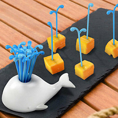 Cute Lovely Whale Fruit Salad Forks Kitchen Decoration Gadget Useful Home