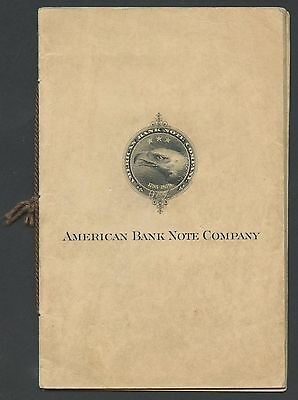 AMERICAN BANK NOTE Co. ESSAY SAMPLE BOOK (7) DIFFERENT BT1378