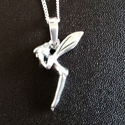 925 sterling silver Fairy like tinkerbell Pendant with necklace chain Gift