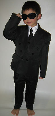 BOYS FORMAL CHRISTENING WEDDING SUITS BLACK Sz 1 to 16