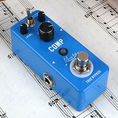 Portable Full Metal Compressor Compression Guitar Effect Pedal with True Bypass