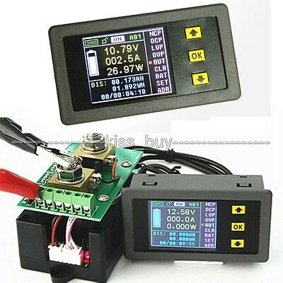 DC 120V 50A Wireless Volt Ammeter Power Meter battery Charge discharge capacity