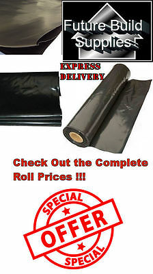 Heavy Duty Black Polythene Sheeting Sheet 125mu 500 250mu 1000 300mu 1200 Gauge
