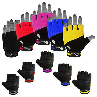 Summer Cycling Gloves Padded Palm Fingerless MTB / Cycle Mitts Grip Gloves