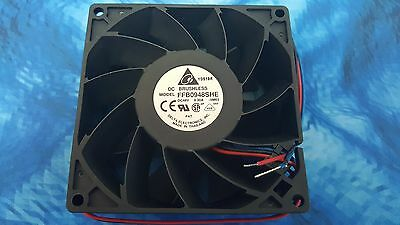 1unit DELTA FFB0948SHE ,  92x92x38mm 48V 0.30A DC BRUSHLESS Fan 100CFM , 3 wire