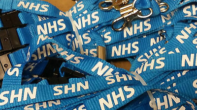 Job lot of 100 NEW NHS LANYARDS wholesale lanyard bulk neck strap identity chain