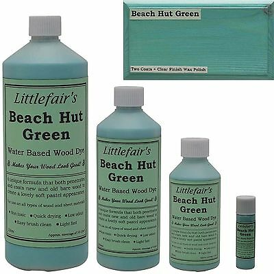 Littlefair's Water Based Rustic Shabby Chic Wood Stain and Dye - Beach Hut Green