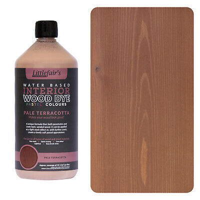 Littlefair's Water Based Rustic Shabby Chic Wood Stain and Dye - Pale Terracotta