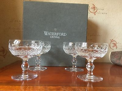 Waterford Crystal Colleen Champagne Saucers/glasses