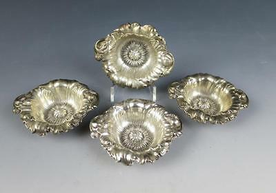 Set of 4 Reed & Barton POPPY Nut Dish LES CINQ FLEURS Sterling Silver Repousse