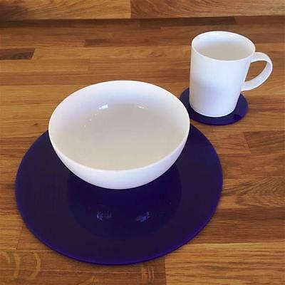 Purple Round Placemat and Coaster Set