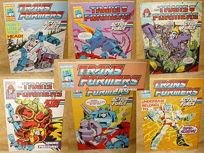 ***choose Your Issue*** Original Transformers & Action Force Marvel Comics Uk