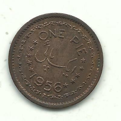 A Very Nice High Grade Unc 1956 Pakistan 1 Pice Coin-Dec735