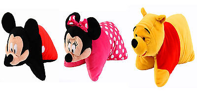 Disney 2-in1 Plush Cushion Mickey Mouse, Minnie Mouse, Winnie The Pooh