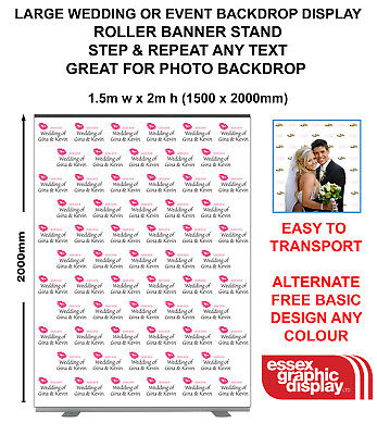 Wedding Engagement Backdrop Step Repeat Banner Stand Red Carpet Scene Setter