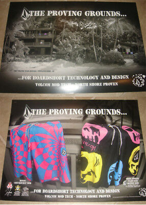 VOLCOM Surf Shorts POSTER PROVING GROUNDS Pipeline NEW