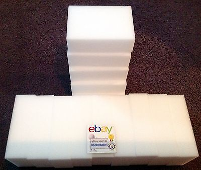 "100 Pack Extra Large 1-1/4"" Magic Sponge Eraser Melamine Foam Cleaning US Seller"