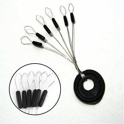 50 X Sliding Rubber Fishing Float Stops For Floats, Rigs Carp Gear Tackle 4 Size