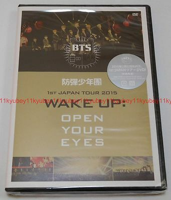 New BTS 1st JAPAN TOUR 2015 WAKE UP OPEN YOUR EYES DVD PCBP-53131 4988013264489