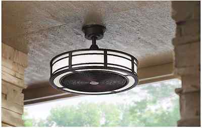 23 in. LED Light Indoor Outdoor Espresso Bronze Ceiling Fan with Remote Control