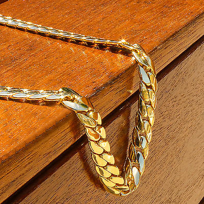 e60b54a40a4a5 MEN'S 14K GOLD Plated Hip Hop Miami Cuban Snake Chain 12mm 30 inches Long