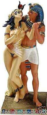 Ancient Egyptian  Exotic Romance Of The Royals Paritally Nude Queen Sculpture