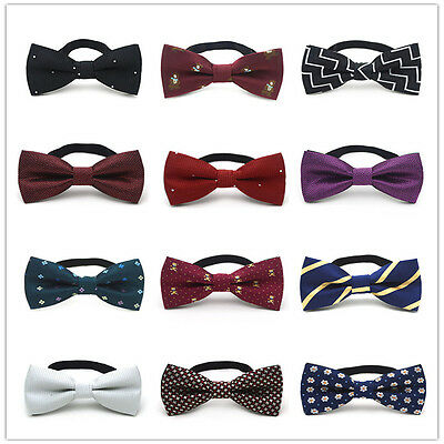 Children Boys Kids Wedding Satin Bow Tie New Solid Bow Tie Pre Tied For Party V