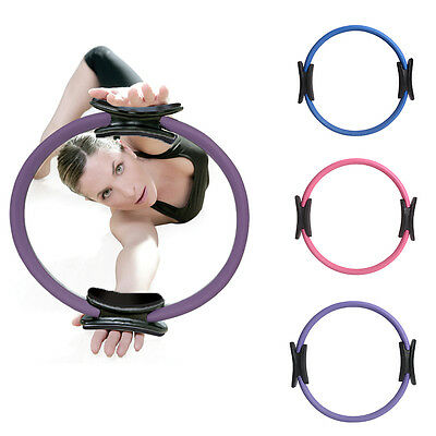 Pilates Ring Yoga Dual Grip Circle Sport Exercise Fitness Weight Magic