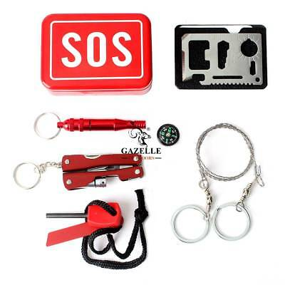 SOS Equipment Box Outdoor Camping Hiking Survival Emergency Kit Self-help New