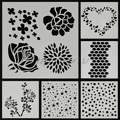 Layering Stencil Template DIY Scrapbooking Photo Album Paper Painting Card Craft