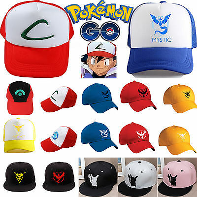 Pokemon Go Baseball Cap Ash Ketchum Team Mystic InstInct Valor Costume Hats Gift