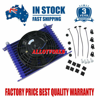 """Universal 15Row 10AN Racing engine Transmission Oil Cooler With 7"""" Electric Fan"""