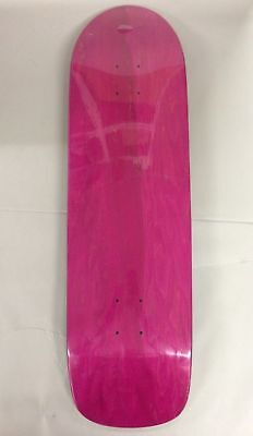 Absolute Skateboard Deck Pool Shape 9' PINK STAIN Skate Cruiser Free Grip Blank