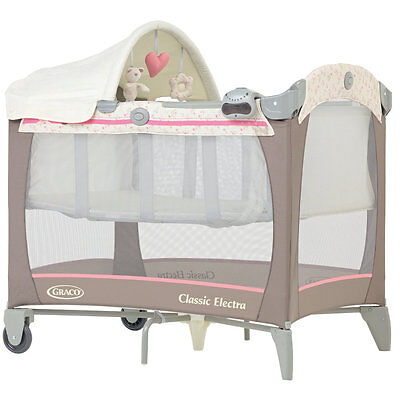 Graco Classic Electra Bassinet Travel Cot Baby Travel Bed in Posie