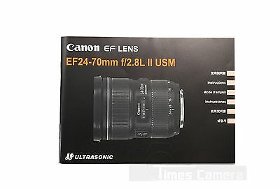 *New* Canon EF Lens EF 24-70 F/2.8L II USM Manual