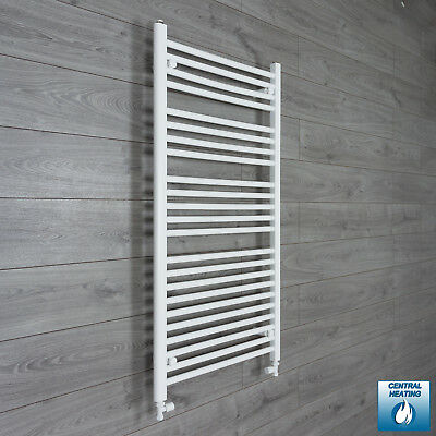 650 mm Wide 1200 mm High Flat White Heated Towel Rail Radiator Bathroom Kitchen