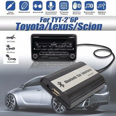BlueTooth A2DP + USB Flash Drive Auto Stereo Adapter Interface for Toyota 2*6
