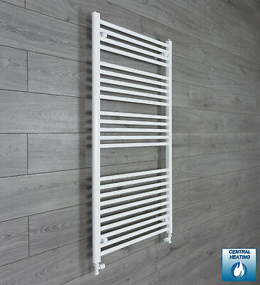 700 mm Wide 1300 mm High Flat White Heated Towel Rail Radiator Bathroom Kitchen