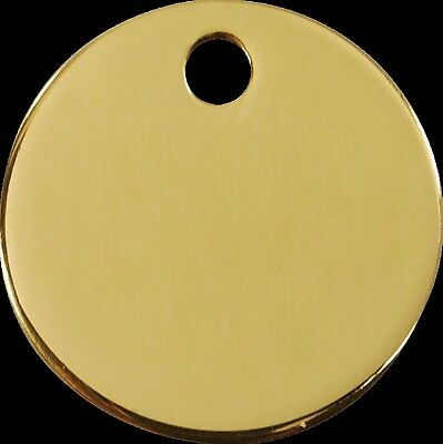 Job lot of 100 Solid Brass Dog Tags 38mm Round engraving Wholesale Bulk joblot