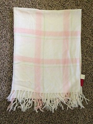 Amy Coe Limited Edition Pink White Green Baby Girl Blanket Plaid