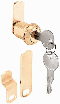 Prime Line Products U 9944 7/8-Inch Brass Drawer/ Cabinet Lock