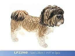 Leonardo collection Extra large Shih tzu dog ornament figurine LP22960