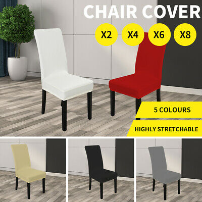 NEW Stretch Elastic Dining Room Wedding Banquet Chair Cover Washable Slipcover