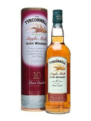 Tyrconnell 10 Year Old Port Cask Finish Irish Single Malt Whiskey 700ml