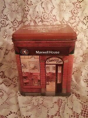 Maxwell House Cappuccino Cafe Tin –Collectible Canister