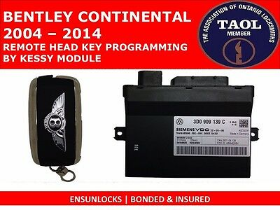 Key Programming For Bentley Continental (2004 - 2014) By The Kessy Module