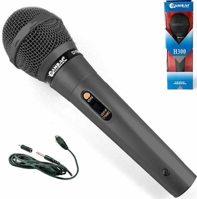 SANSAI Dynamic Undirectional Microphone for Karaoke Vocal Recording DM300 Black