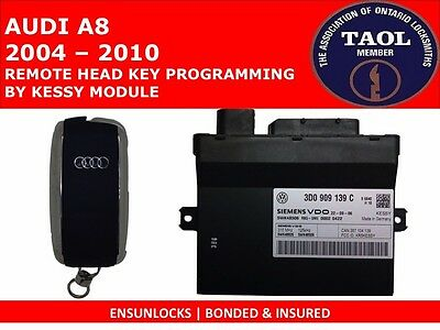 Key Programming For Audi A8 / A8L (2004 - 2009) By The Kessy Module