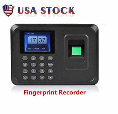 Biometric Fingerprint Attendance Time Clock Employee Payroll Recorder  SP