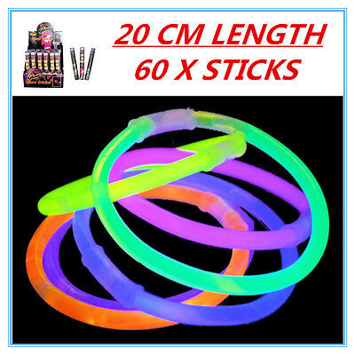 60 X Glow Sticks - Party Wedding Event Birthday Celebrate Concerts Camping